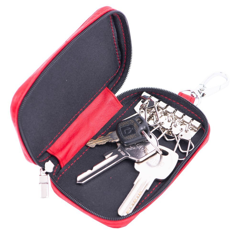 Port-chei din piele Port-a-Key Red